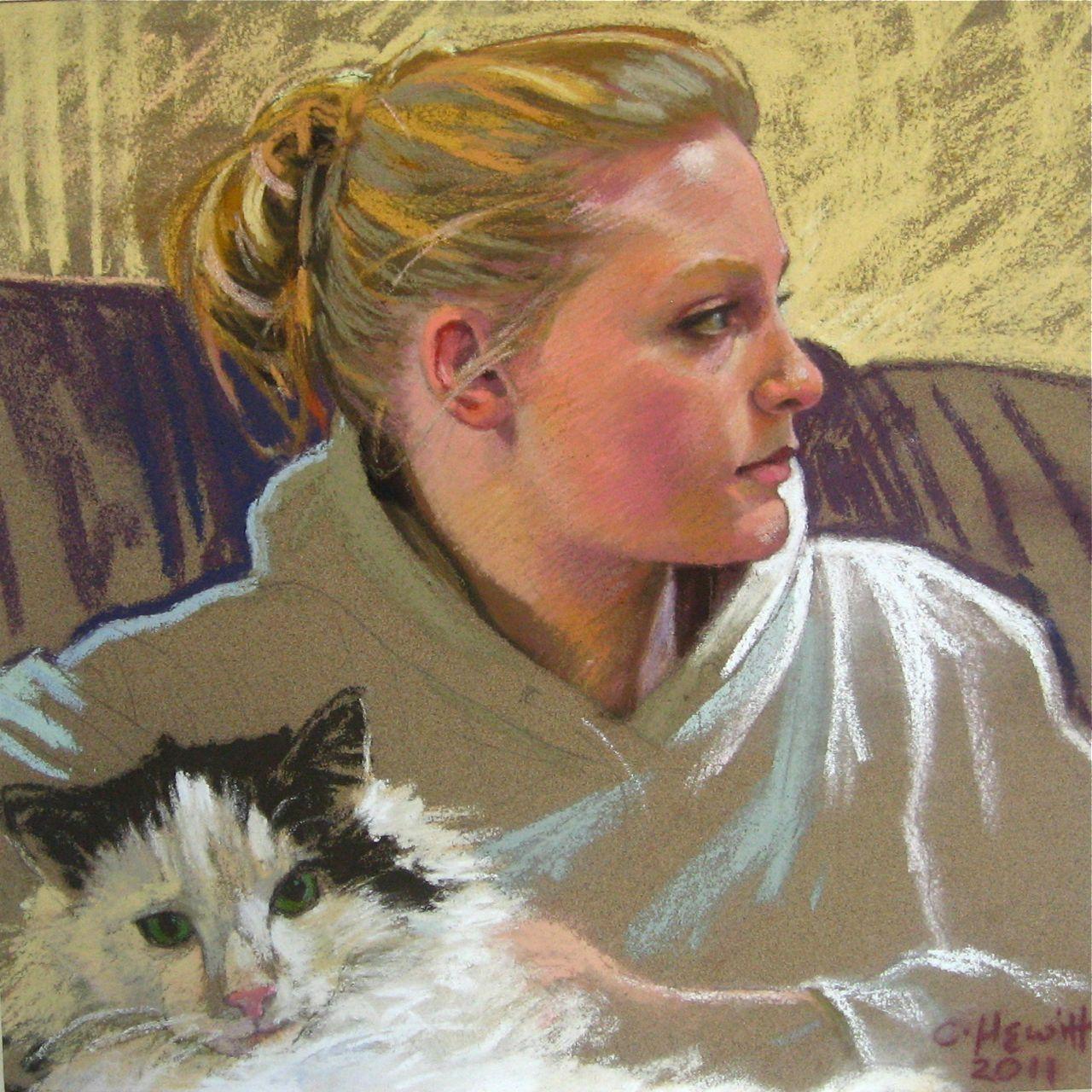 'Iona', pastel, 23x23cm