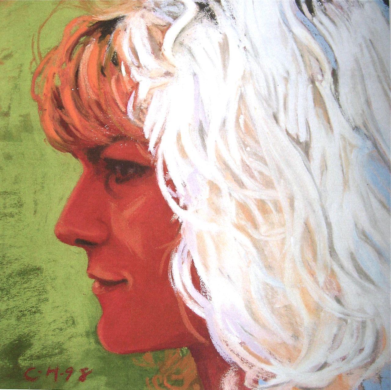 'Lorna', pastel, 20x20cm