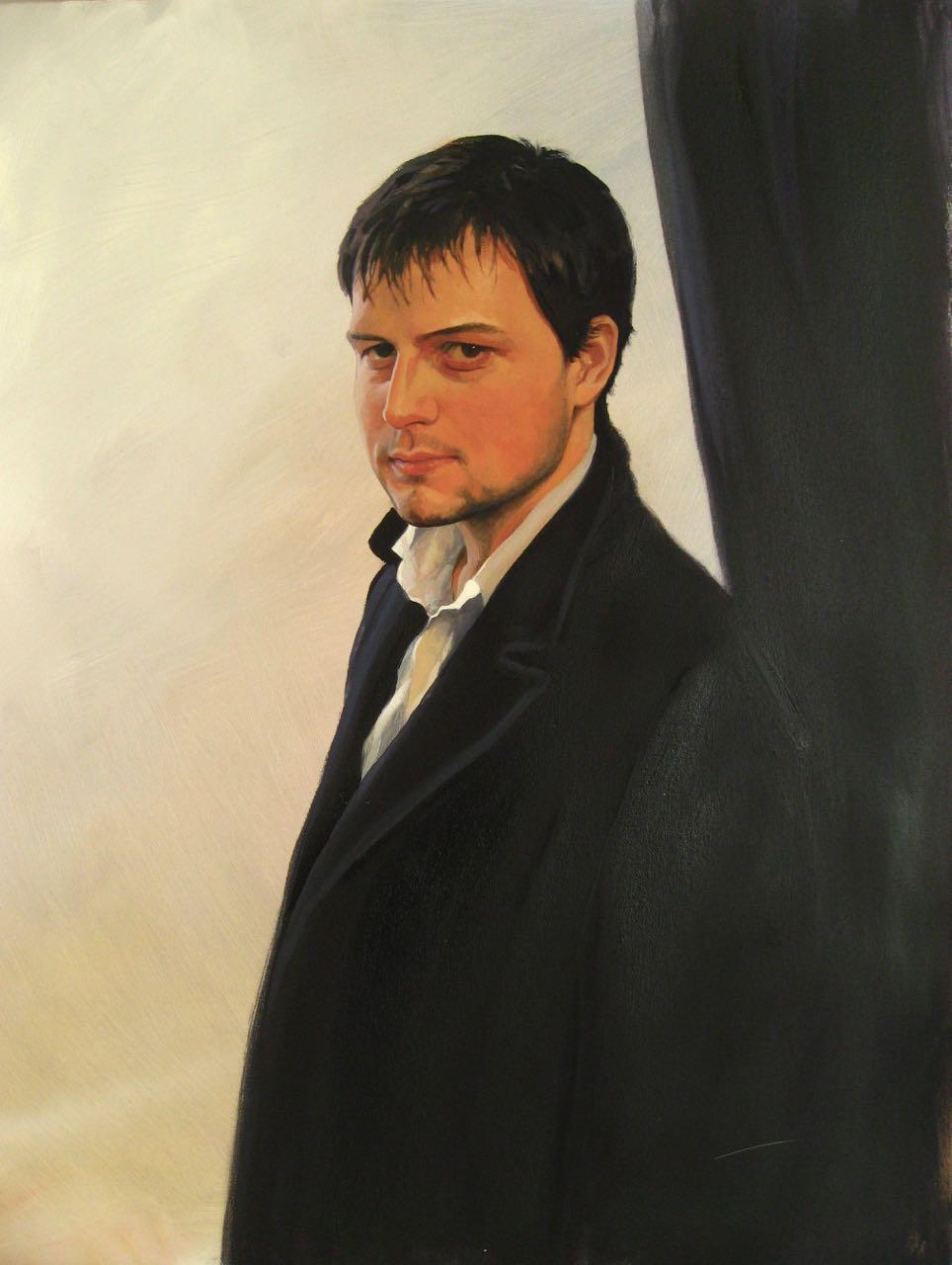 'Rhodderick', oil, 30x60cm.