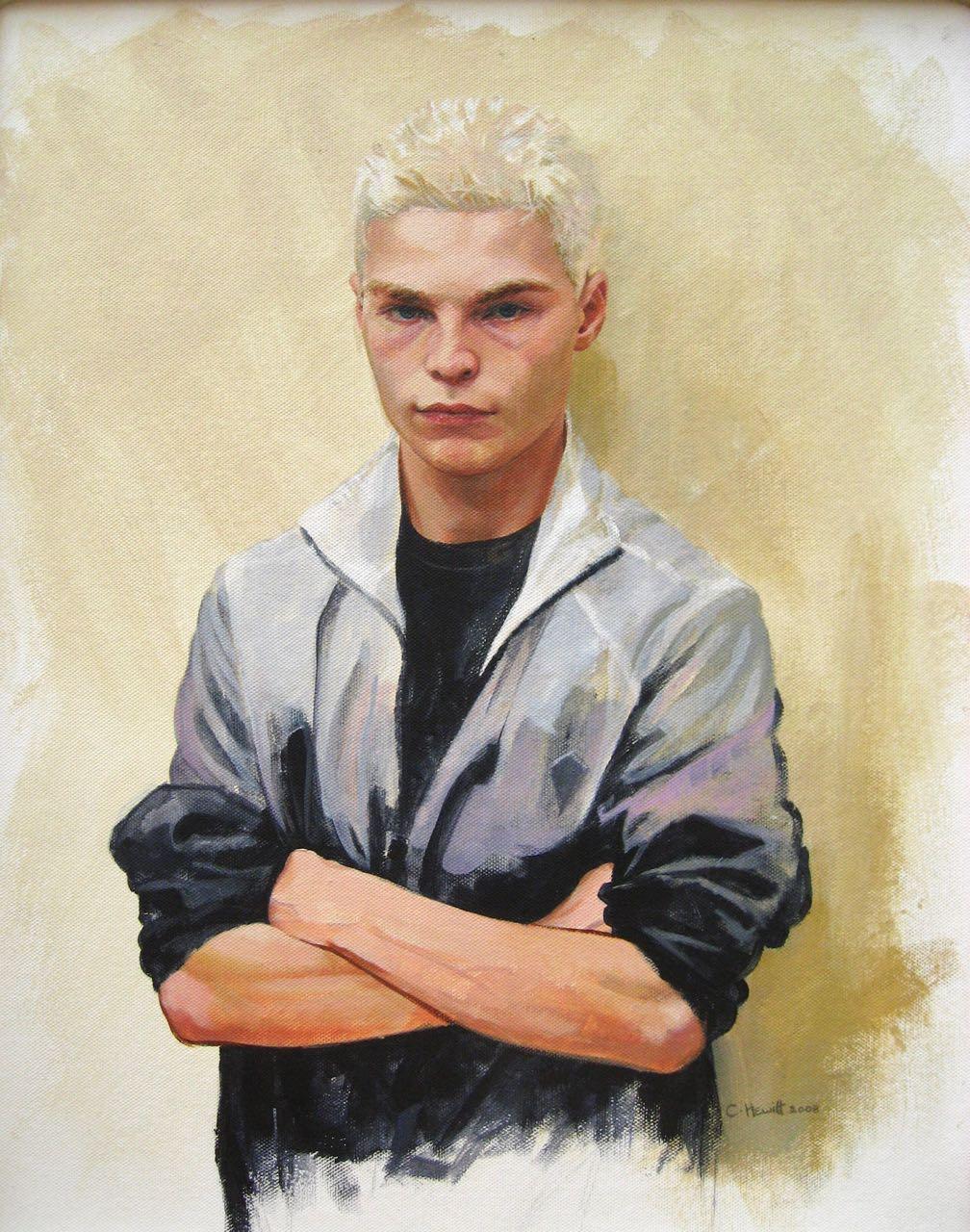 'Allastair', acrylic, 30x60cm.
