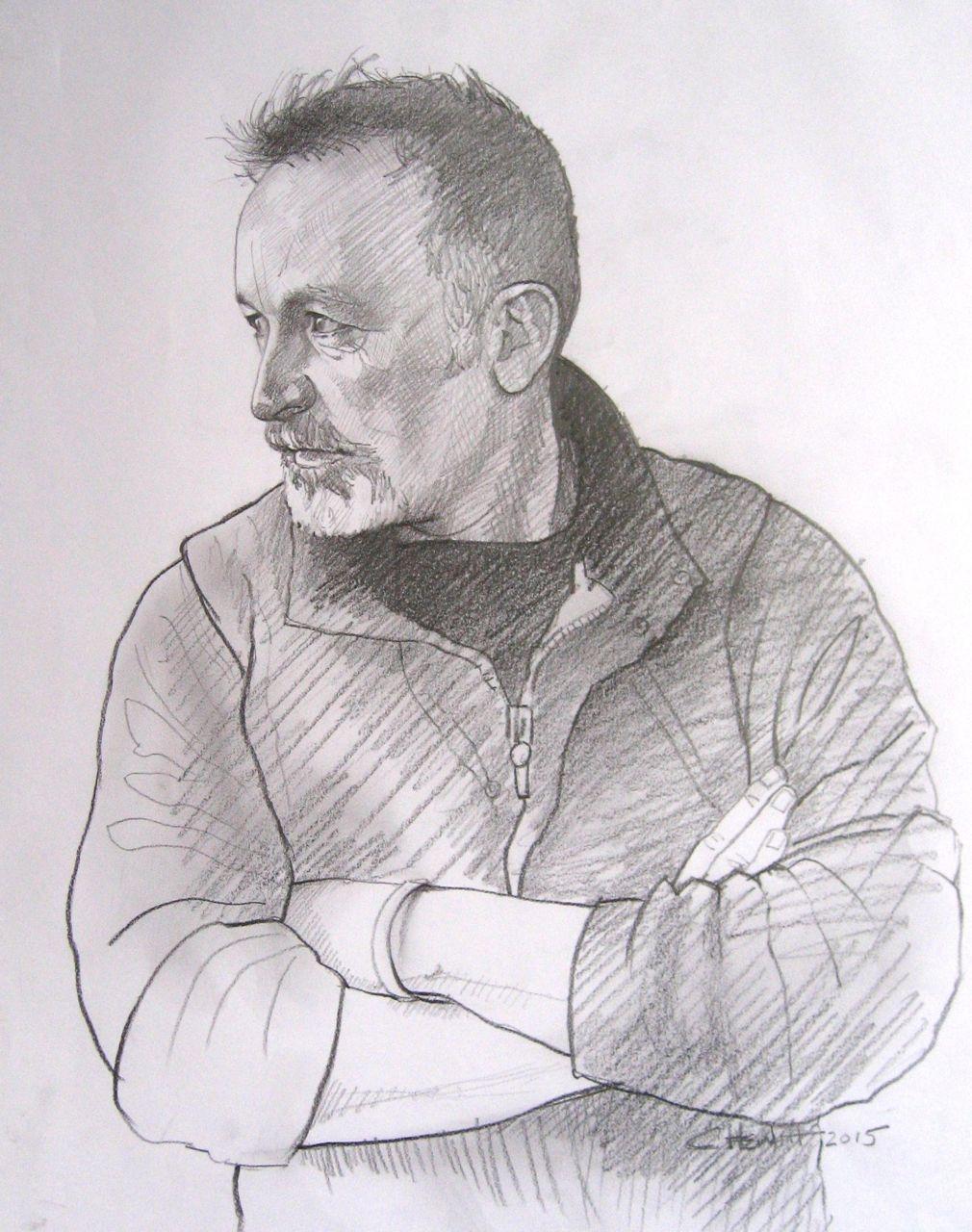 'Ian' - sketch for portrait.