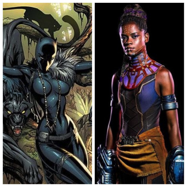 Something tells me Shuri as the tech genius gets a  little  more respect as a serious character than Boobs McGee over there.