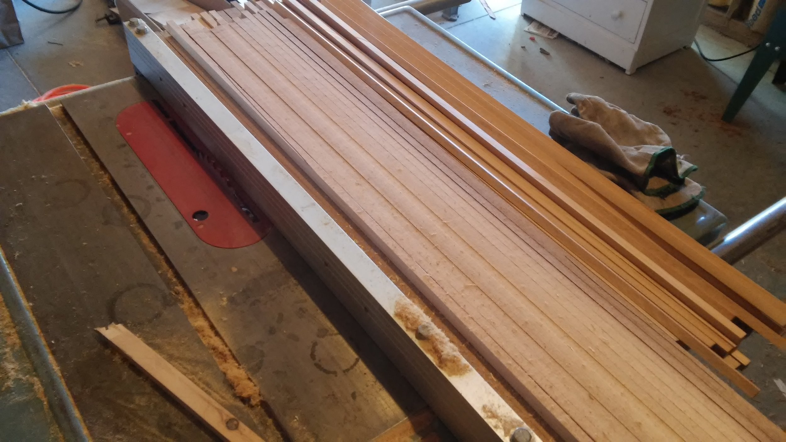 Sawing blanks on the table saw