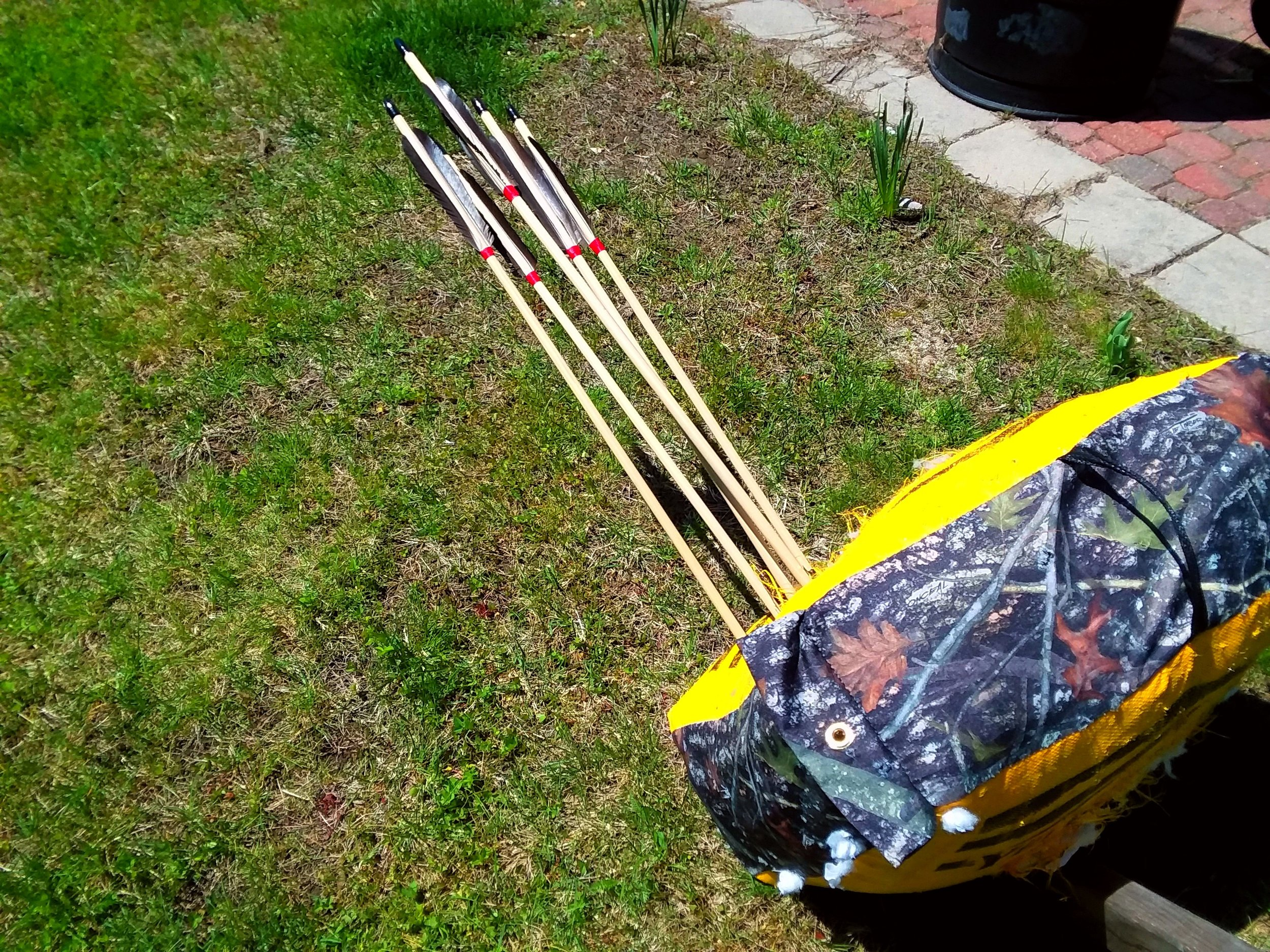 Finished arrows. They shoot well, fly beautifully, and strike with IMMENSE power.