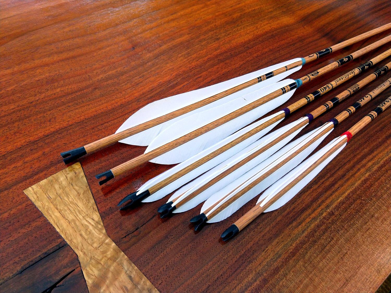 30PCS 8mm Archery Arrow Nocks Plastic Tails For Wood Bamboo Shaft Bow /& Hunti RA