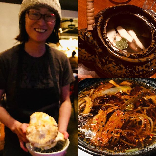 First masutake this fall at #kamonegiseattle prepared 2ways — dobinmushi and soba nabe. Thank you chef and happy #kamonegibirthday ! So good I'm coming back tonight for late night second dinner.
