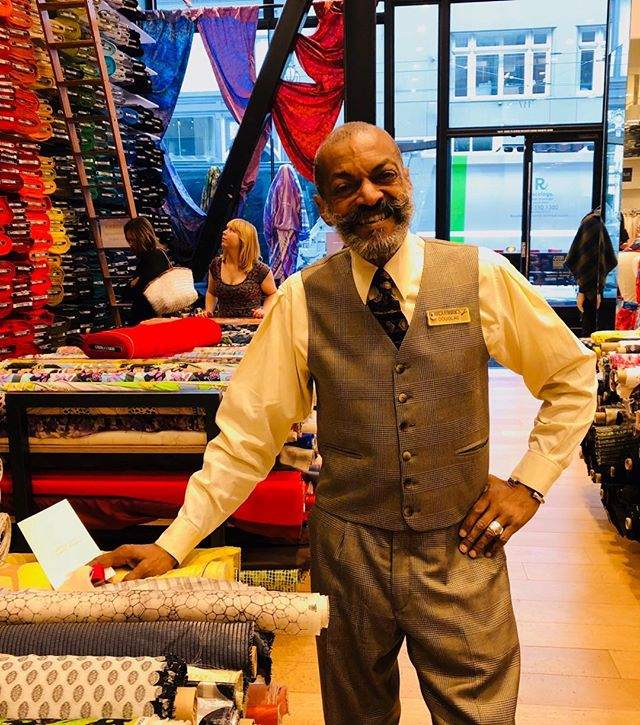 This is Douglas with the twirl mustache and bespoke suits who loves textiles and works in the best fabric store on earth. He told me: I am a flower and you are the bee to attract with nectar and fragrance of care, curiosity and joy.