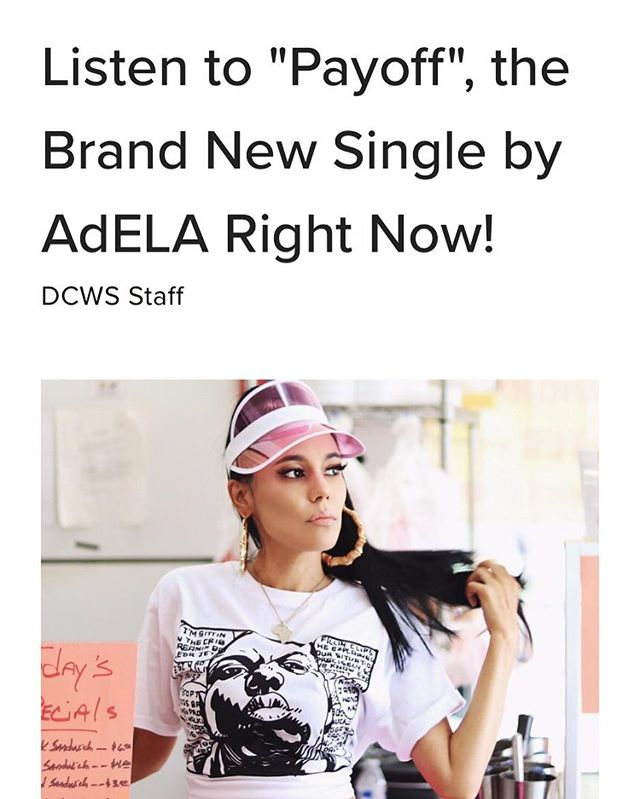 So much LOVE to @dopecausewesaid for always supporting! #AdELA #adelapayoff #dopecausewesaid