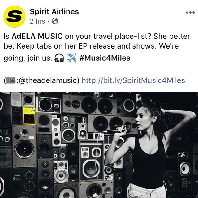 Thanks to @spiritairlines we will be hitting #newyork #losangeles #austin #fortlauderdale #atlanta on the TOUR!!! Drop a ✈️ if you are ready for us!!! #Music4Miles #MoreGo #MusicOnTheFly