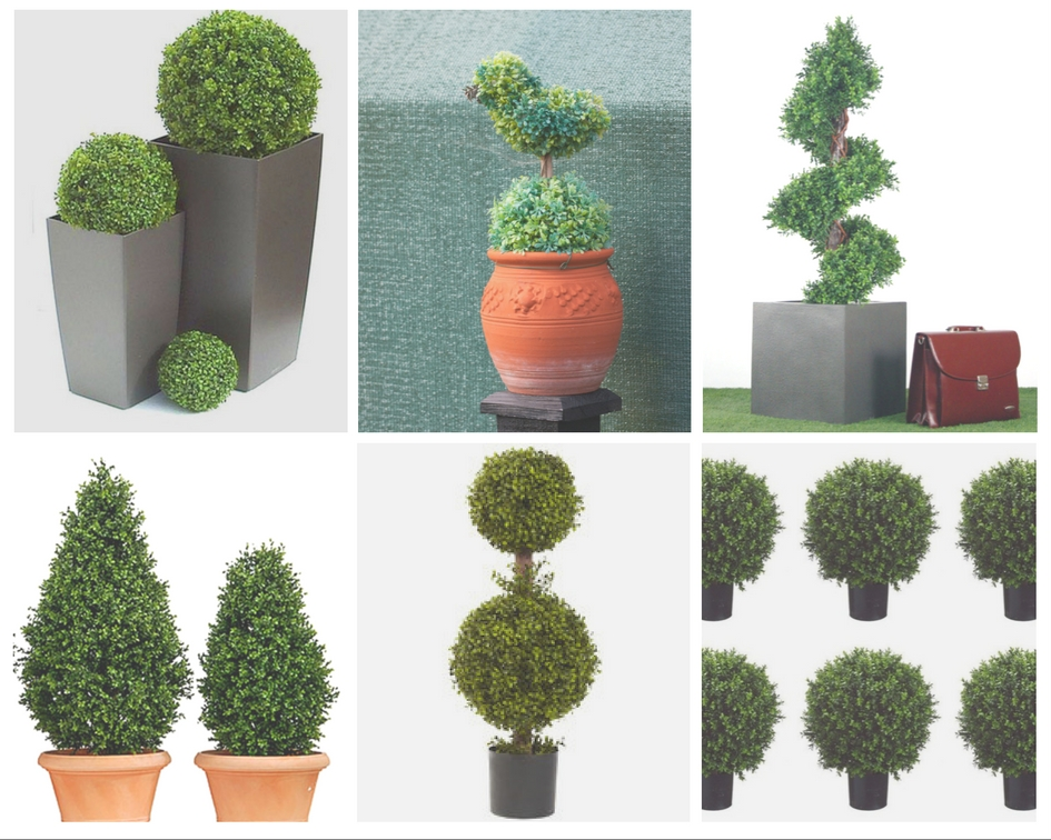 natural and artificial outdoor and indoor planet topiary