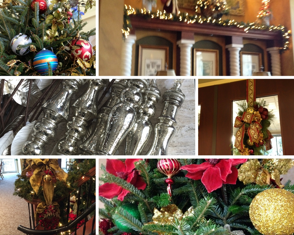 Emerald Isle interiors Orlando tampa palm coast swags and garlands collage