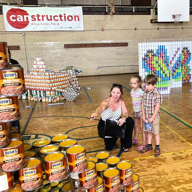 I had the awesome opportunity to be a judge for this years #CANstruction competition and was SO impressed with all of the thought and hard work that went into all of the entries. It was so hard to judge, even with the help of my assistant jurors. @canstructionphl @aiaphiladelphia @philabundance @aiaphlpea