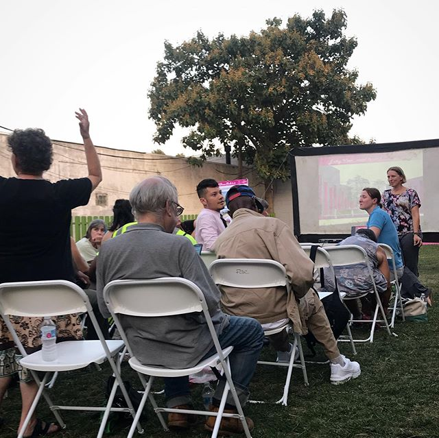 Enjoyed a hot night in Frankford Pause Park talking with the community about the upcoming improvements. #communitydesign #outdoormeeting #frankfordpausepark