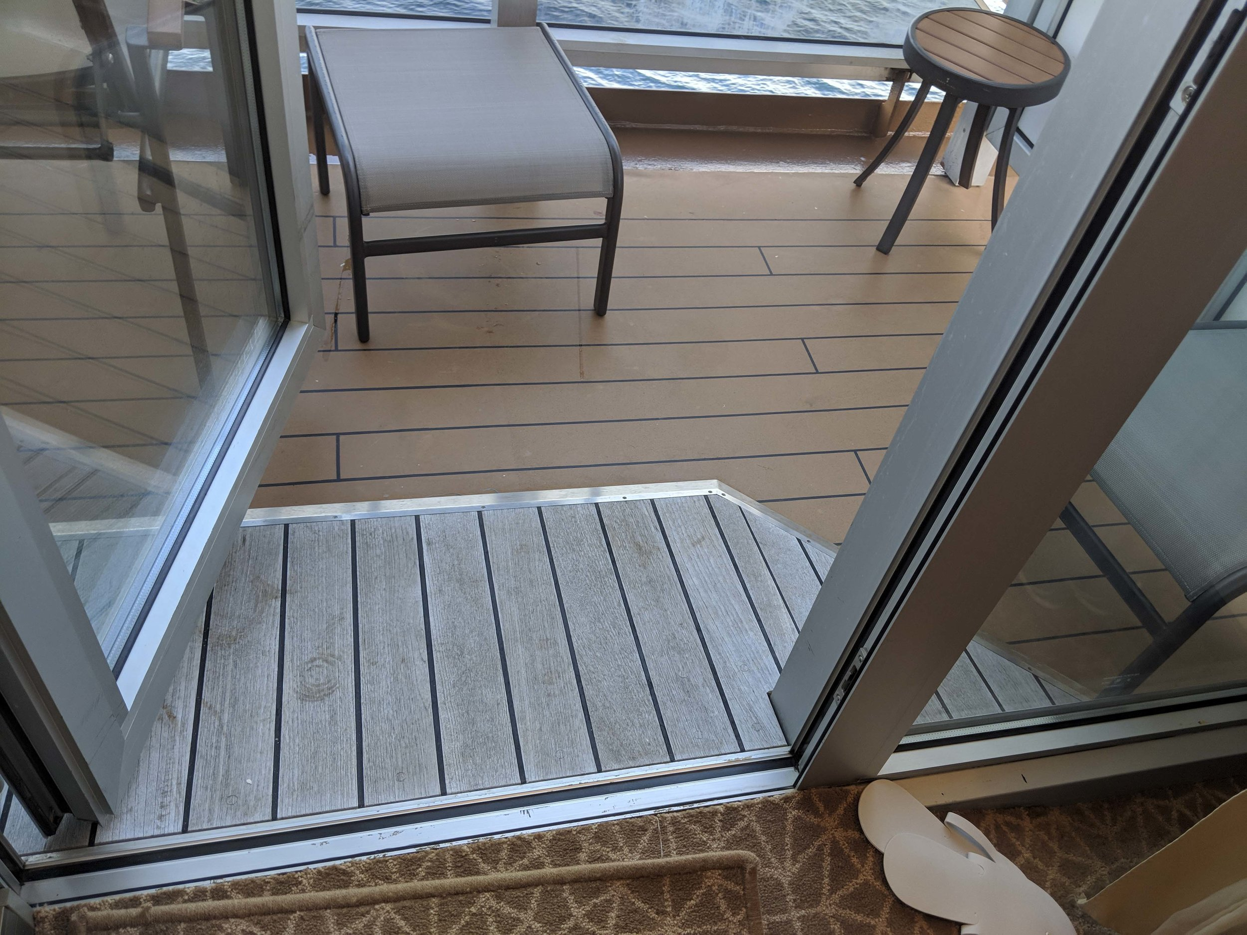 Our balcony, complete with wheelchair ramp!