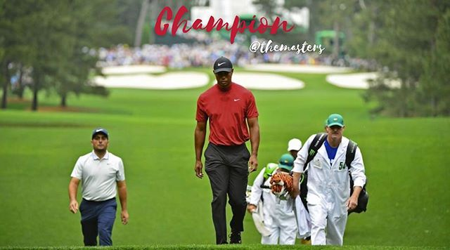 Congratulations, TIGER!!! Haven't been this excited to watch the Masters since I was in college! The road to your 5th green jacket was long but you never gave up. Truly inspiring! @tigerwoods 📷: @themasters
