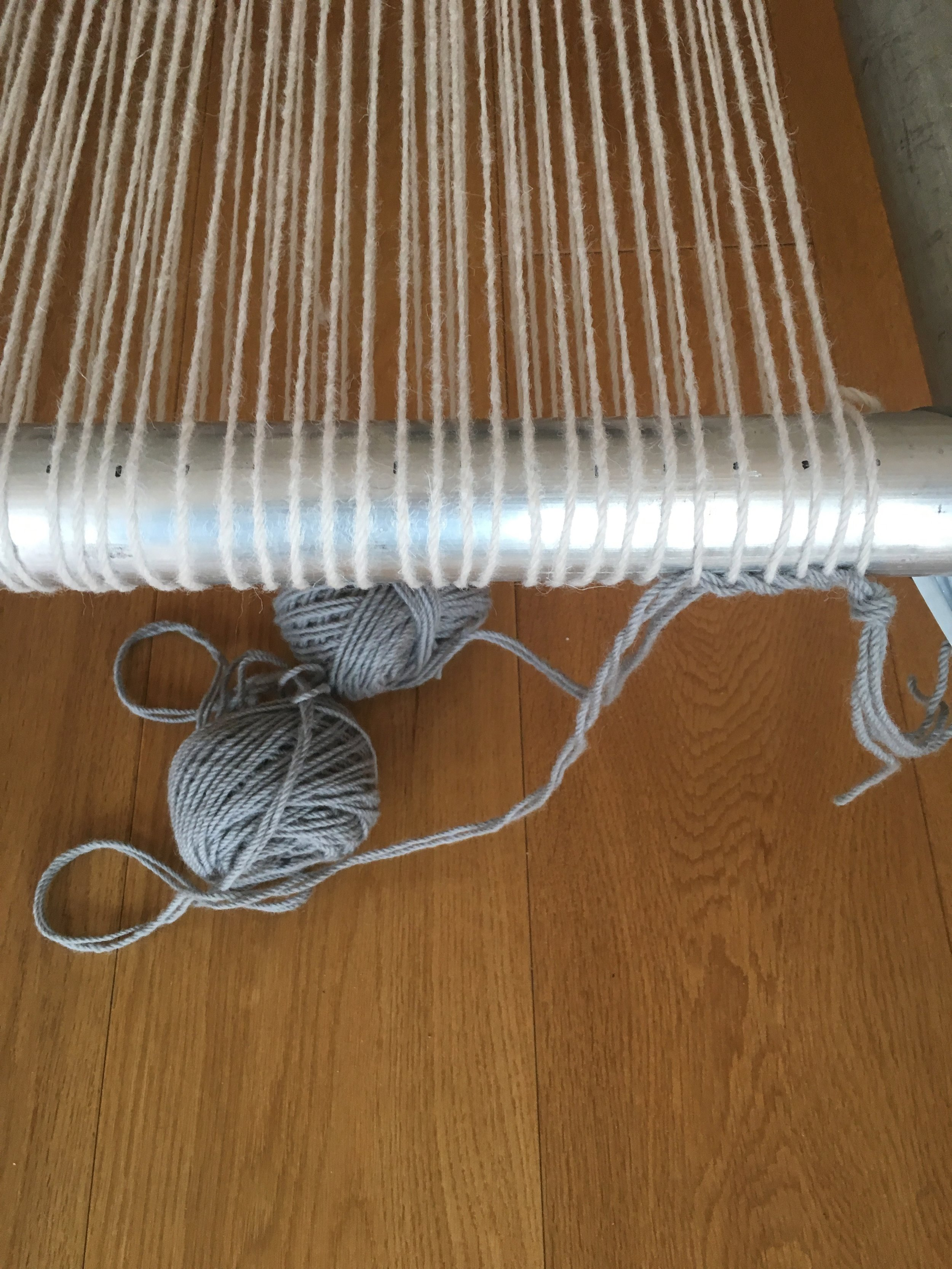 - Twining the warp to secure spacing