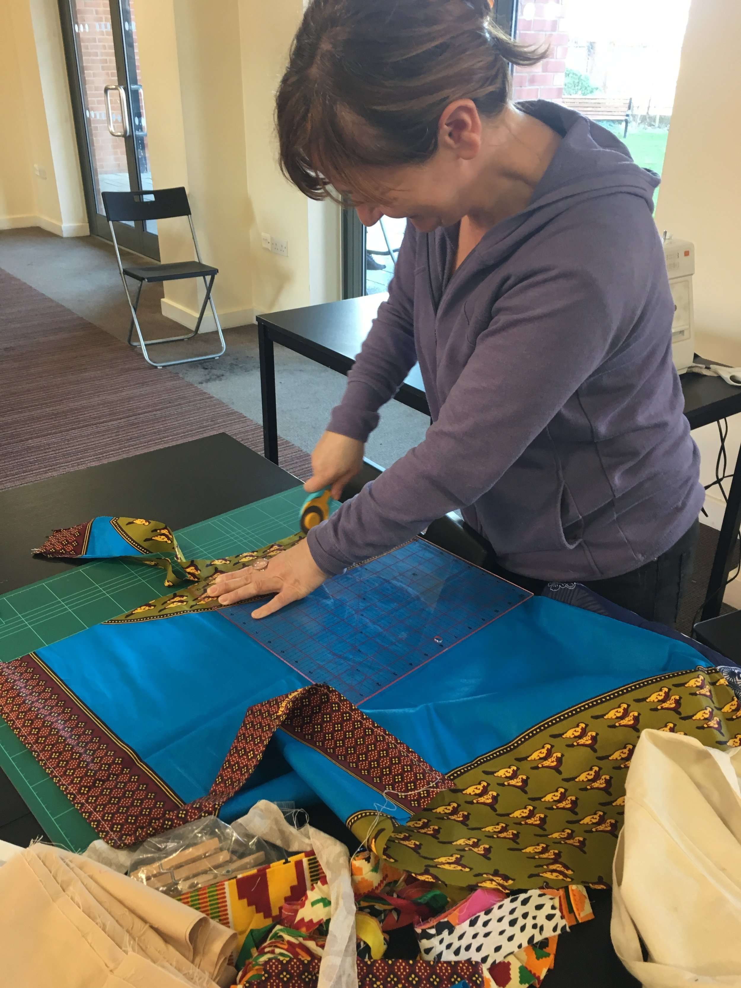 - Preparing the fabric for weaving