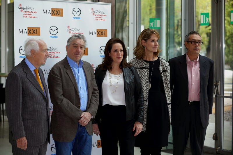 The European premiere of the HBO documentary, Remembering the Artist Robert De Niro Sr. was celebrated at the 2014 Rome Film Festival. The Fondazione Cinema per Roma and the MAXXI – National Museum of XXI Century Arts organized a screening of the documentary by Perri Peltz and Geeta Gandbhir, dedicated to the life and work of Robert De Niro, Sr. After the film, Italian film critic, and Rome Film Festival senior programmer Mario Sesti moderated a panel discussion with the artist's son Robert De Niro.  In honor of the European premiere of the documentary, United States Ambassador to Italy John Phillips and his wife Linda Douglass hosted a private screening of the film at Villa Taverna, the U.S. Ambassador's residence. The event was attending by Robert De Niro, HBO filmmaker Perri Peltz, art advisor Megan Fox Kelly, art industry professionals in Rome and other distinguished guests..