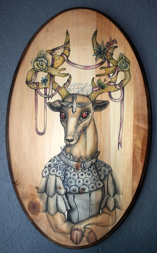DEER FRIDA  Frida Khalo is one of my muses. She painted herself once as a wounded deer. I wanted to make her a beautiful one.