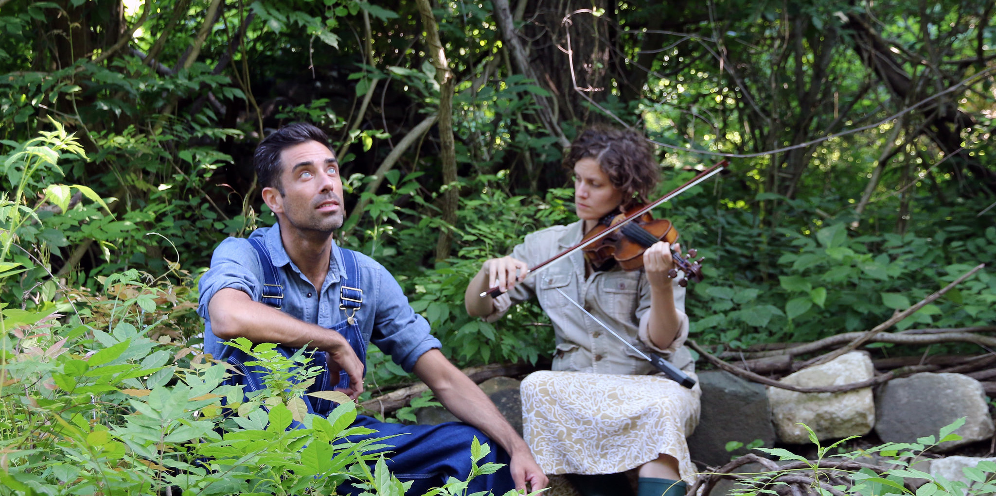 Robert Maril and Bonnie Lander in Erik Spangler's  Cantata For A Loop Trail  (2014)