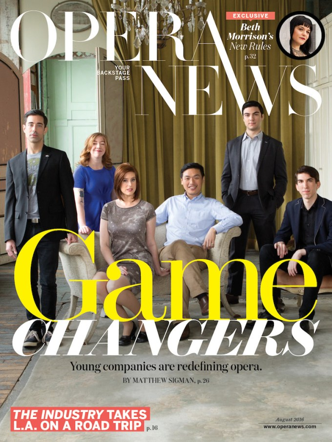 RWO on the cover of Opera News