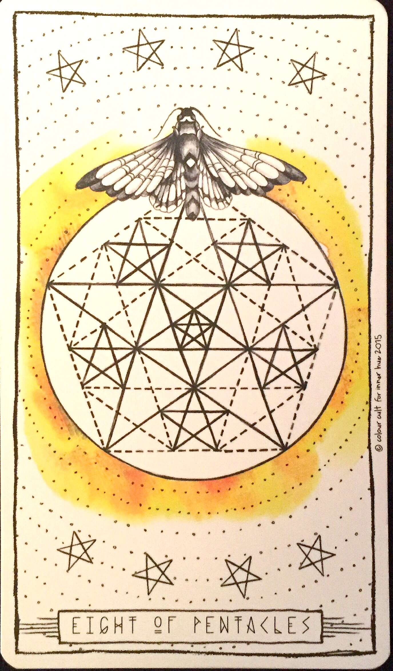 Eight of Pentacles | Lumina Tarot, Inner Hue 2015