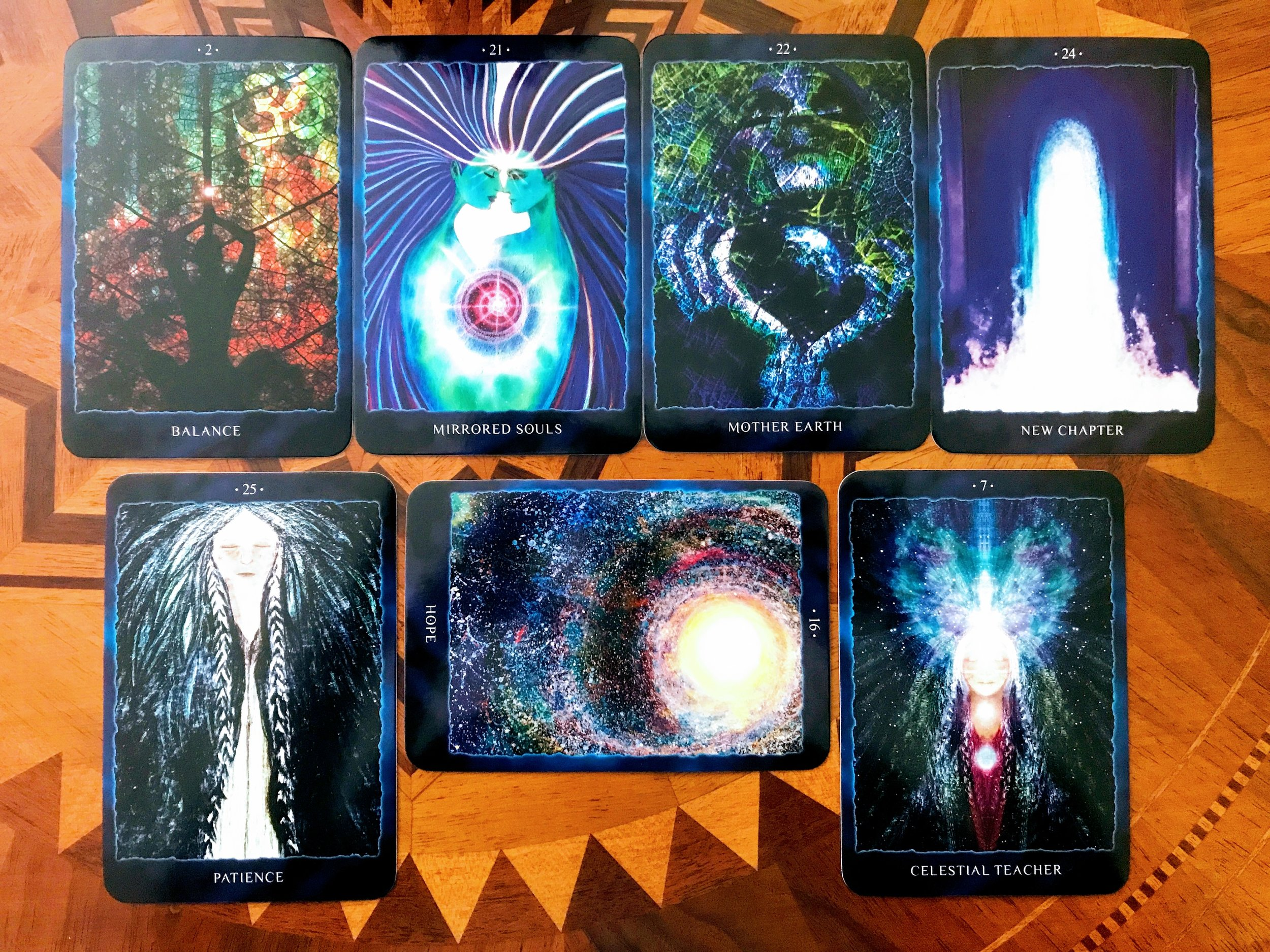 Cosmic Reading Cards - Maven Unmasked Sacred Space Check In Spread