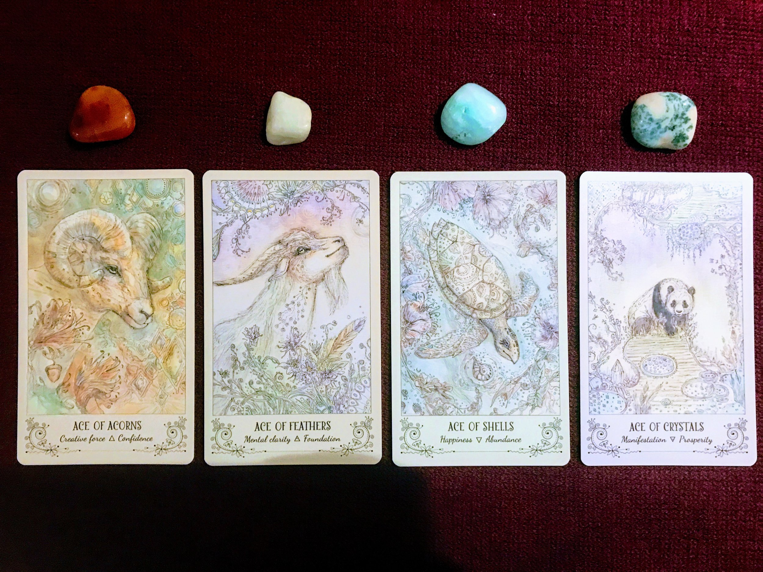 Spiritsong Tarot The Ace's - Four Suits   Maven Unmasked