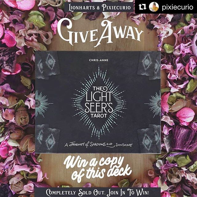 #Repost @pixiecurio (@get_repost) ・・・ In celebration of community!  @Lionharts and @Pixiecurio are teaming up to give you a chance to win one copy of The Light Seer's Tarot. You will have a shot at winning one brand new deck, sent to anywhere in the world by @Pixiecurio. The Light Seer's Tarot is completely sold out. If you don't own a copy yet, this might be your last chance to get this edition. 🎁 How can you join the competition? 1. Follow @Lionharts and @Pixiecurio. 2. Share this post in your stories or on your IG page {tag or mention us both}. 3. Leave a comment and let us know what makes this deck the perfect fit for you. 🎟 You get one extra entry when you: 4. Like your favorite 3 recent posts of both @Lionharts and @Pixiecurio. ❤ As long as no winner is announced in this section of the competition you can still join.  ℹ This giveaway isn't sponsored, endorsed, administered by, or associated with Instagram. 🦁 #cardslinger #cardslingersofinstagram #tarotreadersofig #tarotreaders #chrisannedonnelly #lionheartsgiveaway #tarot #lightseerstarot #thelightseerstarot #pixiecurio #tarotgiveaway #indiedeck #tarottribe #tarotcreator #creativepreneur
