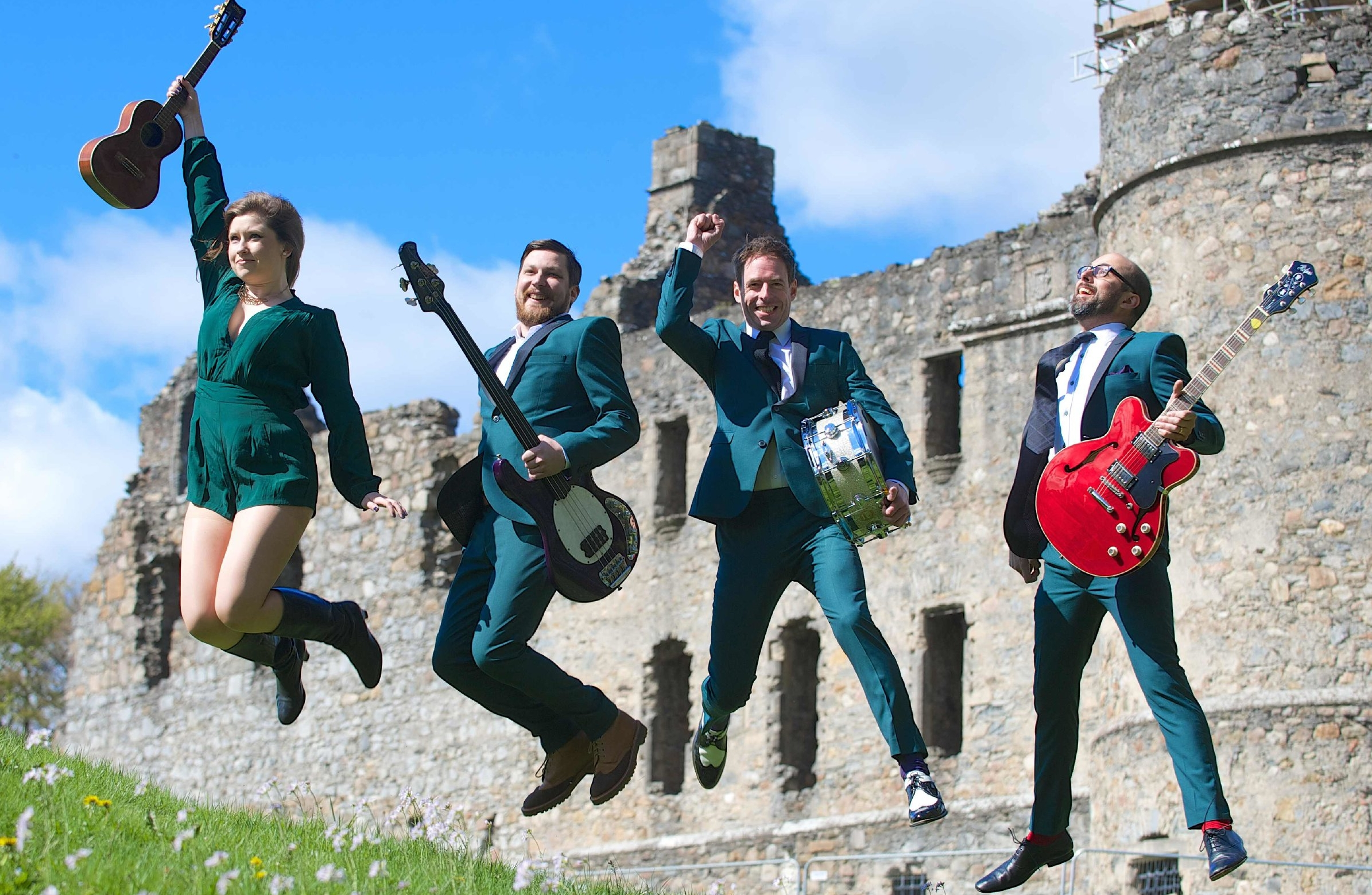 Staging a gig in ruins of an ancient Scottish castle