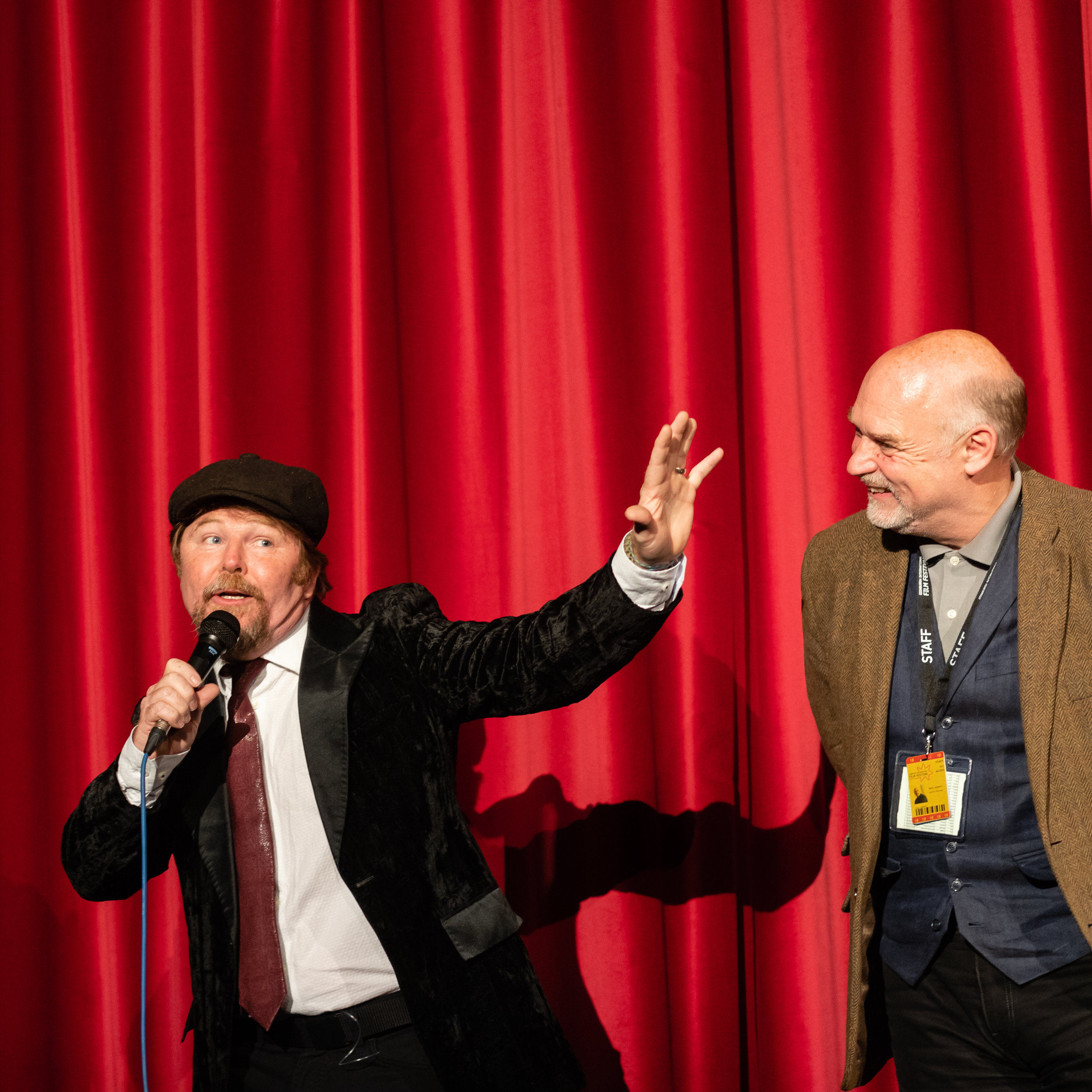 Owen Egerton introduces Blood Fest at the 2018 EIFF.