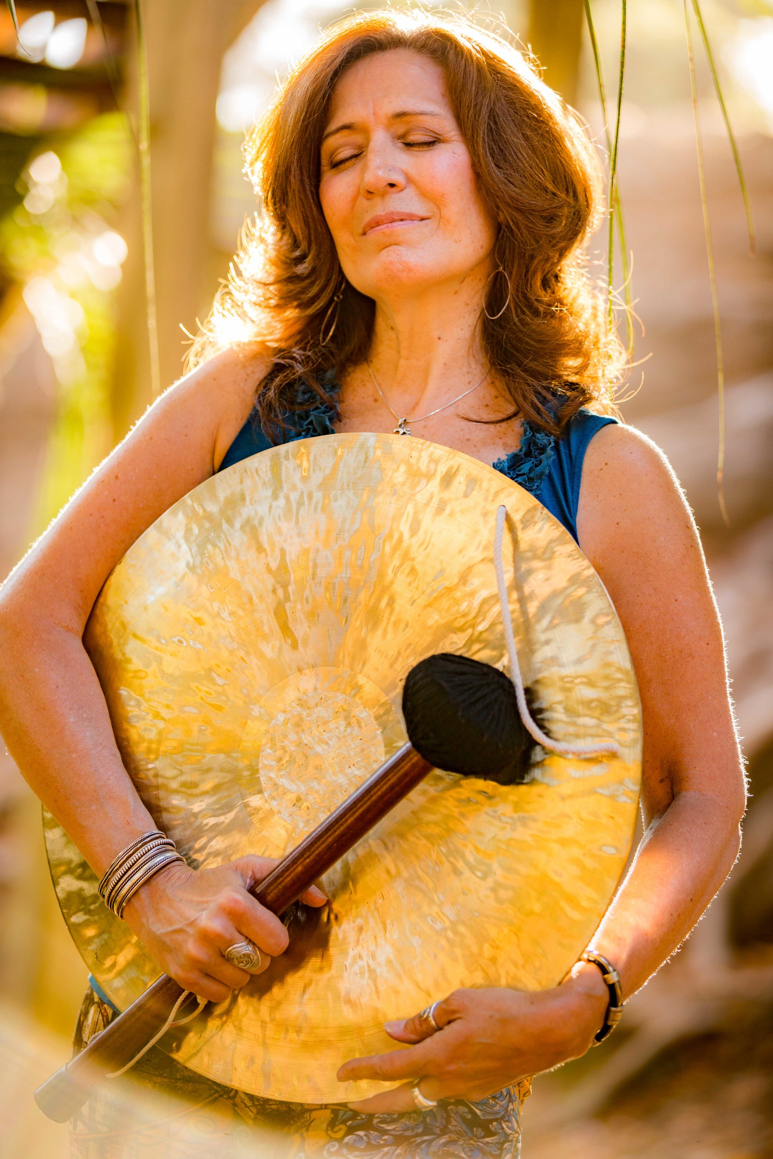 Gong Massage with  Teri Wilder  is an experience you won't forget! Her gifts of healing energy and musical talents with ease all stressors and make for a beautiful sensory adventure!