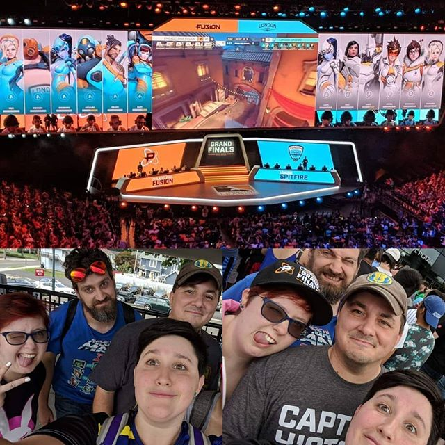 PixelStories crew had a great time at #thefirstfinals #overwatchleague