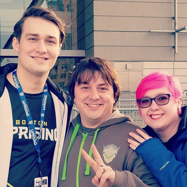 Got a photo with @kkelleerr from @bostonuprising hanging outside of #PAX Woot!