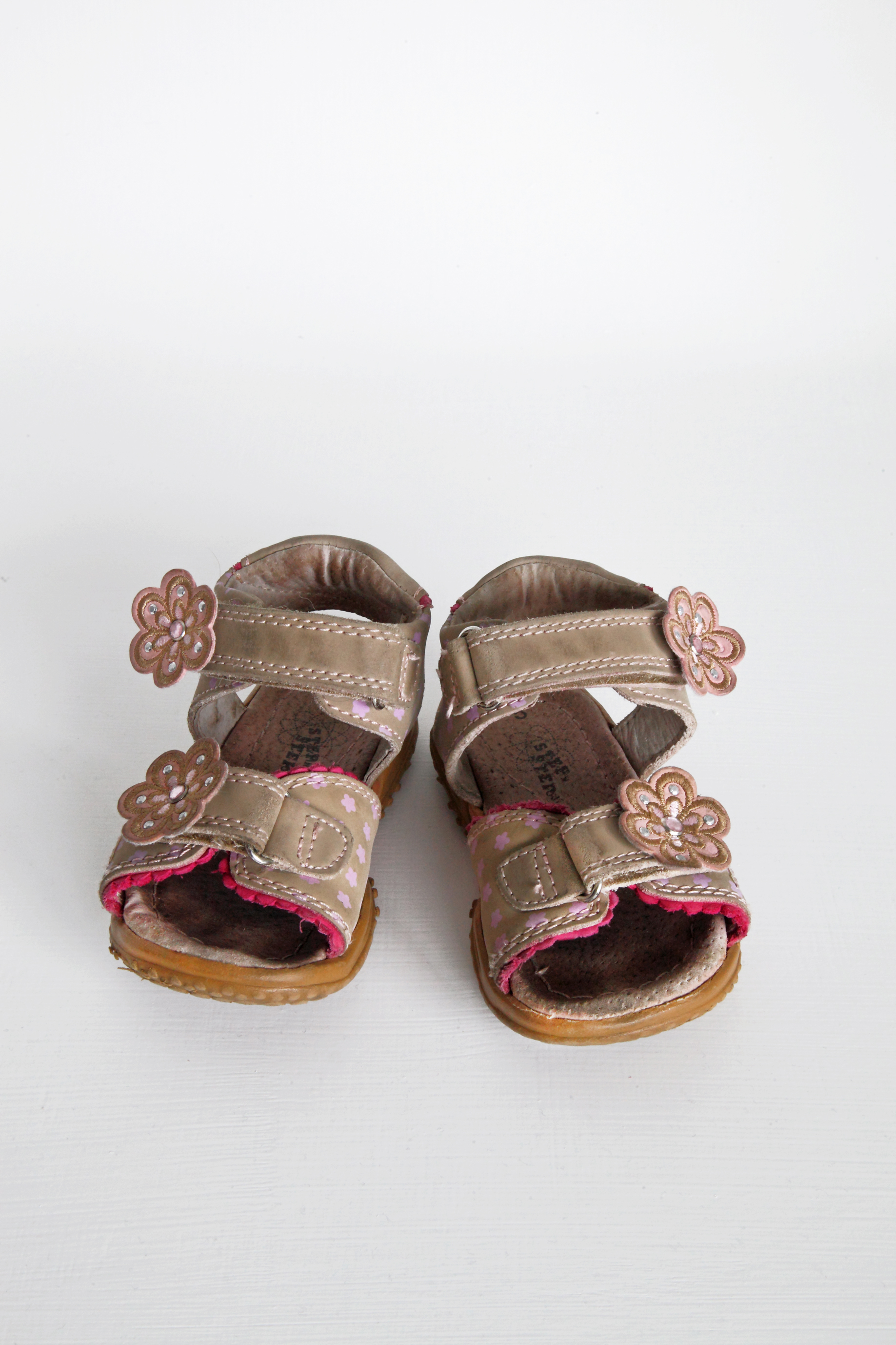 Pink Flower Sandals - Step by Step - Size 5