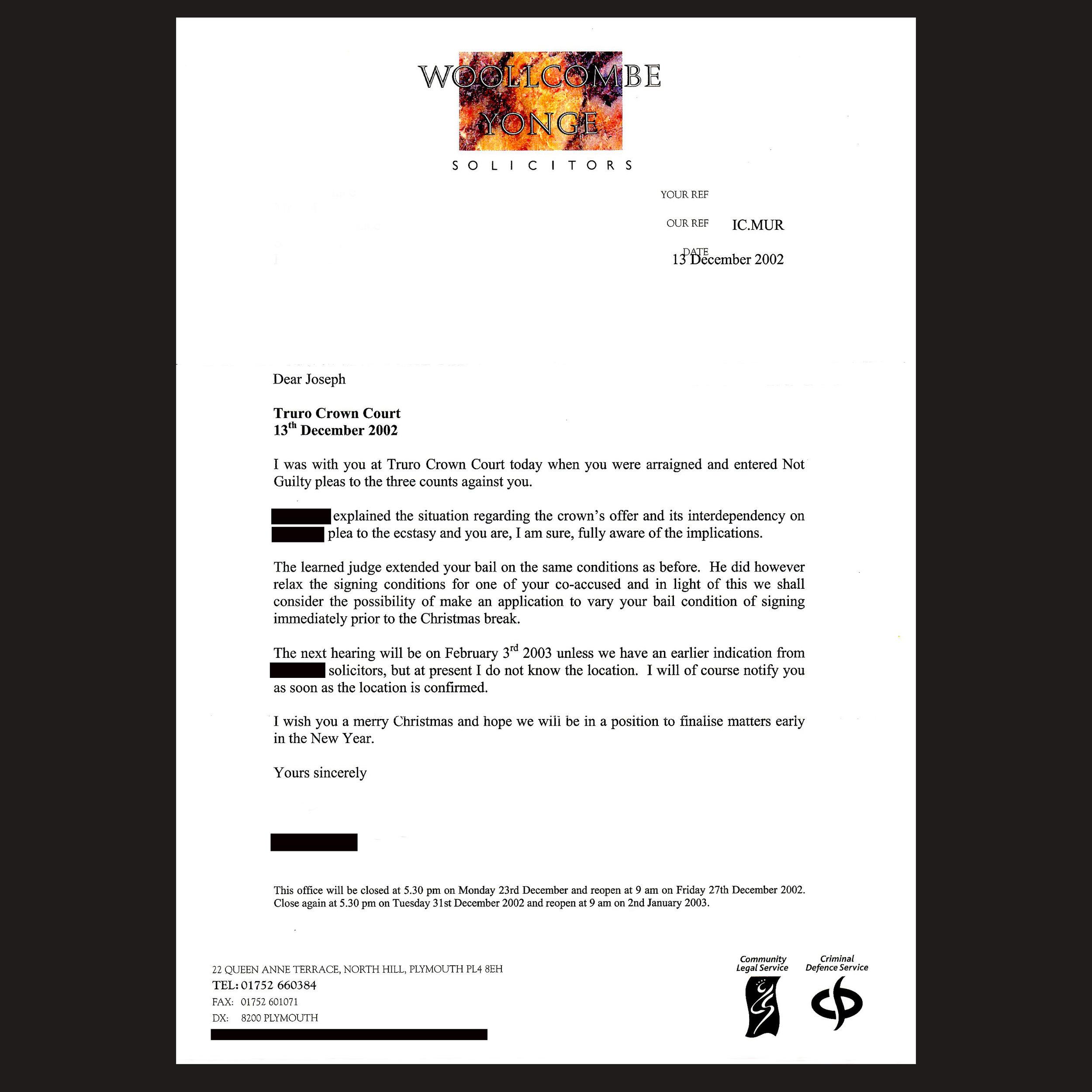JM Bail 126 - Solicitor Letter 2 - Dec 2002 - Not Guilty.jpg