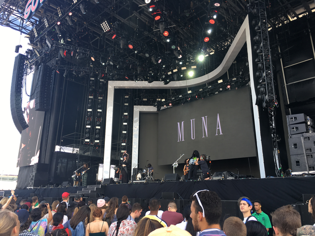MUNA performing at Gov Ball 2017