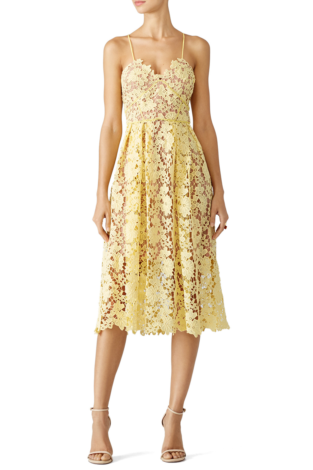 Slate & Willow Yellow Lace