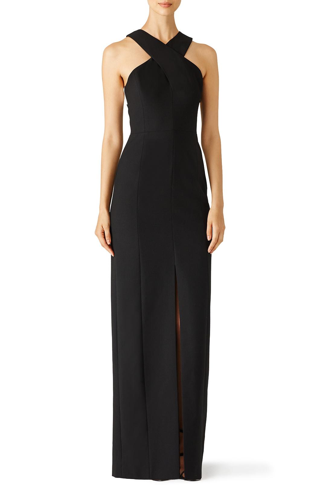 Elizabeth & James Black Mila Gown