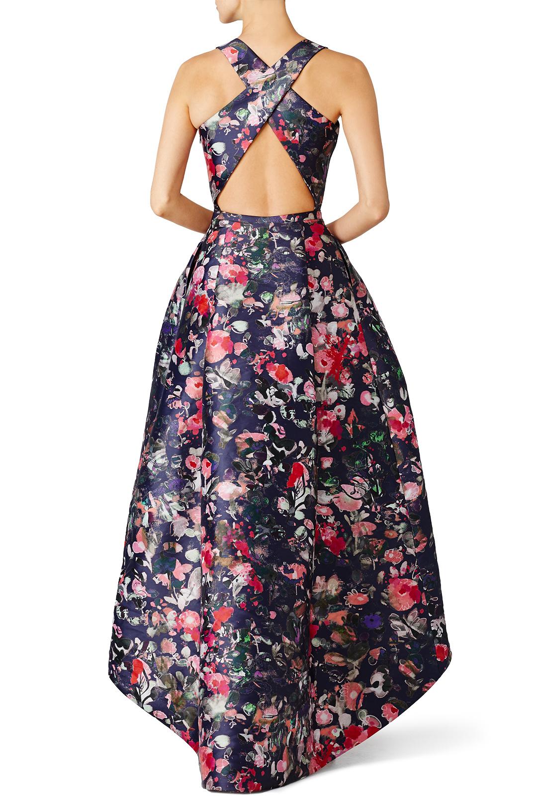 Monique Lhullier Floral Jadore Gown