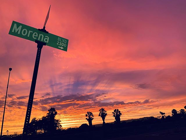 Happy Friday Morena District! We love our sunsets! Taken near @offshoretavernsd With a little photo editing magic we were able to expose the Morena sign which was originally dark. Now we are styling!#sandiegosunsets #exploremorena #thinklocal #applifiedmarketinggroup #morenabusinessassociation #amgthruthelens #photoeditingmagic #becreative