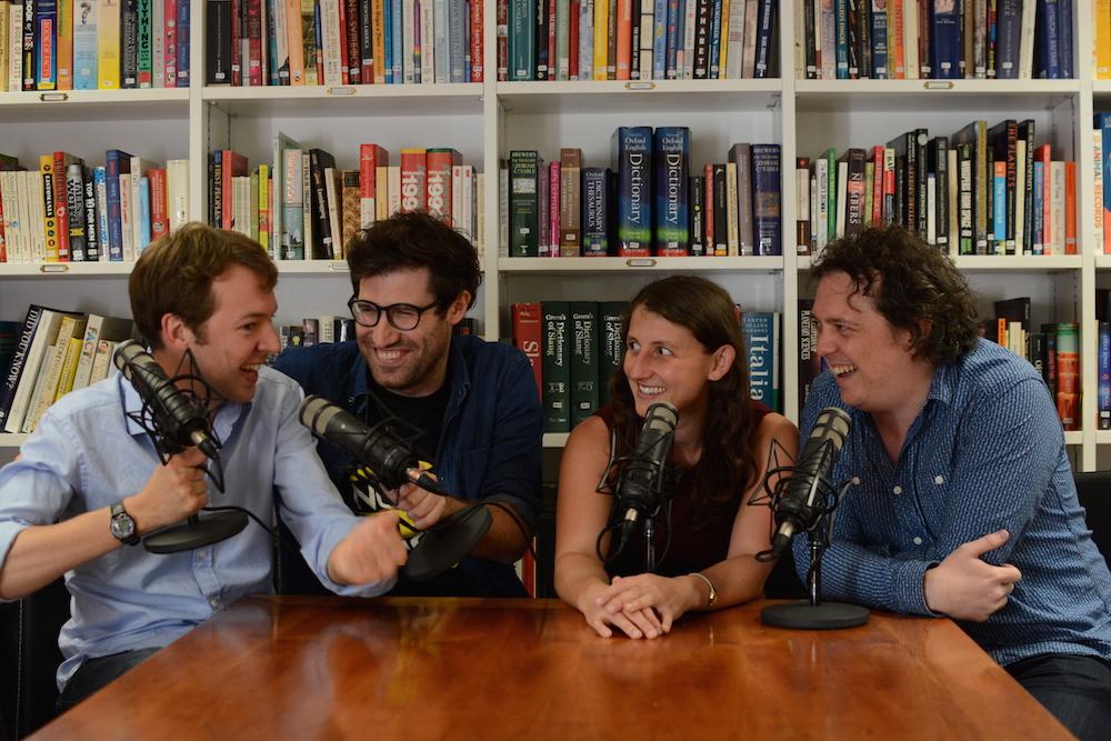 From left: Andrew Hunter Murray, Dan Schreiber, Anna Ptaszynski and James Harkin
