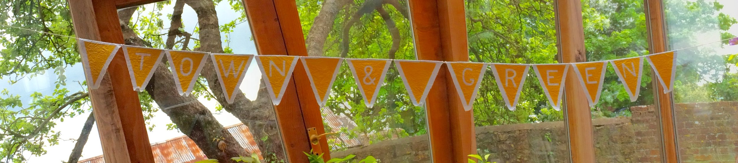 Town and Green bunting