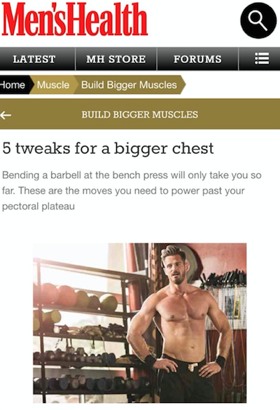 P4's Dylan Jones give his top tweaks for a bigger chest in Mens Health