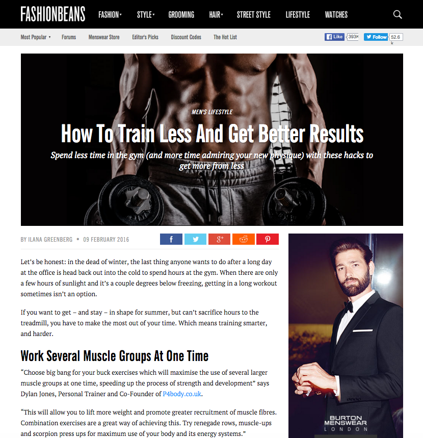 P4 Body Co Founder Dylan Jones gives tips on How to train less and get better results