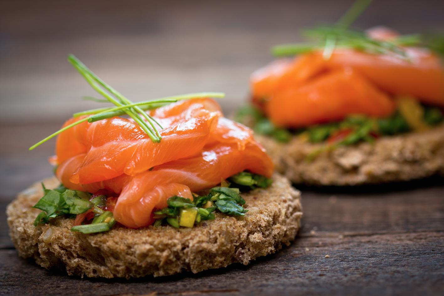 Salmon on Oatcakes -