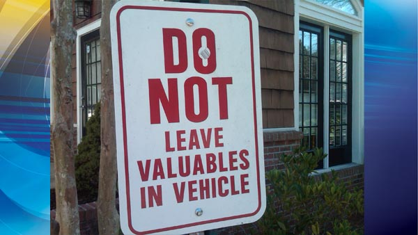 Secure your valuables and don't leave them in the car