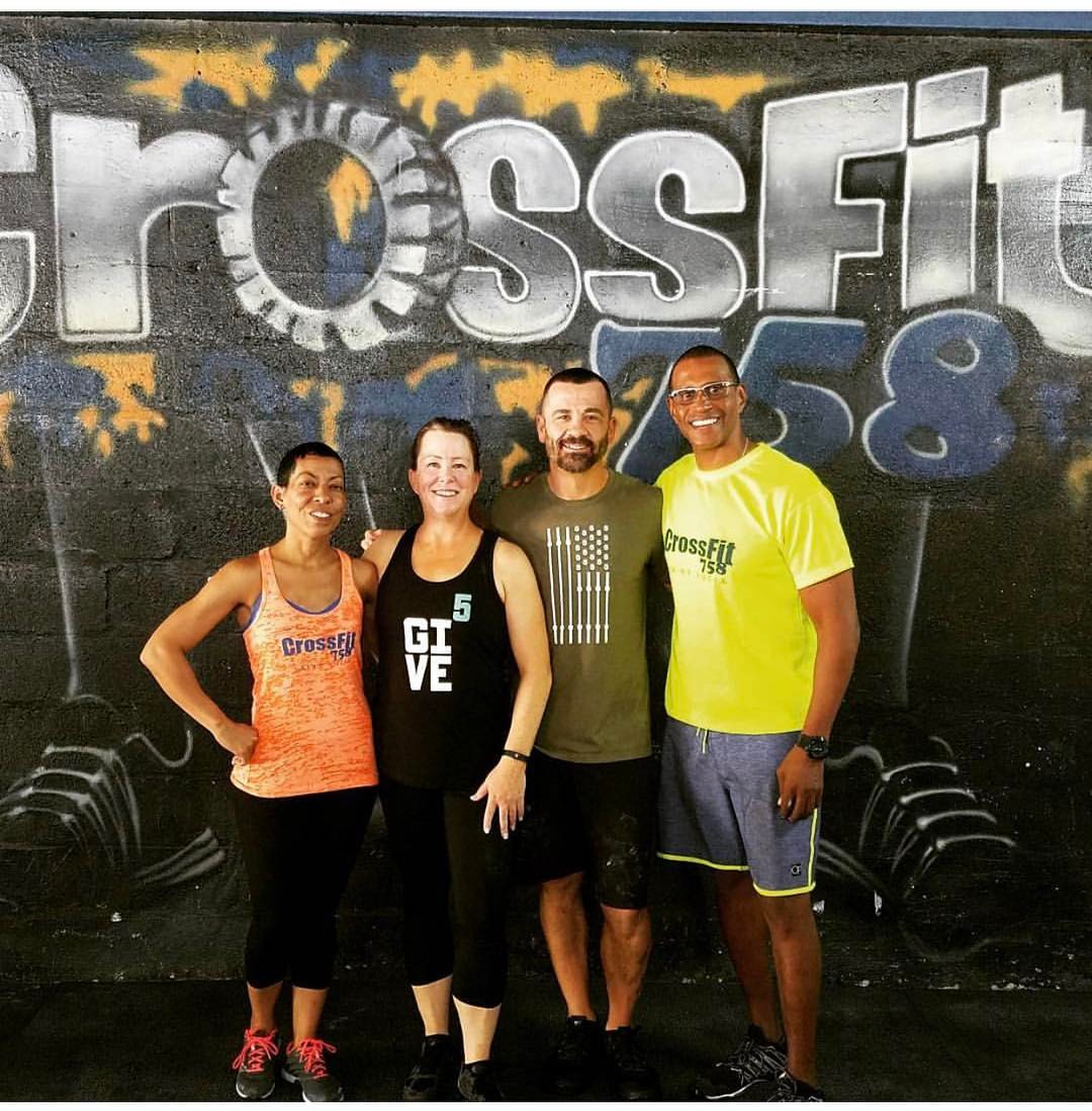 Leslie and Andrew visiting CrossFit 758 in St. Lucia