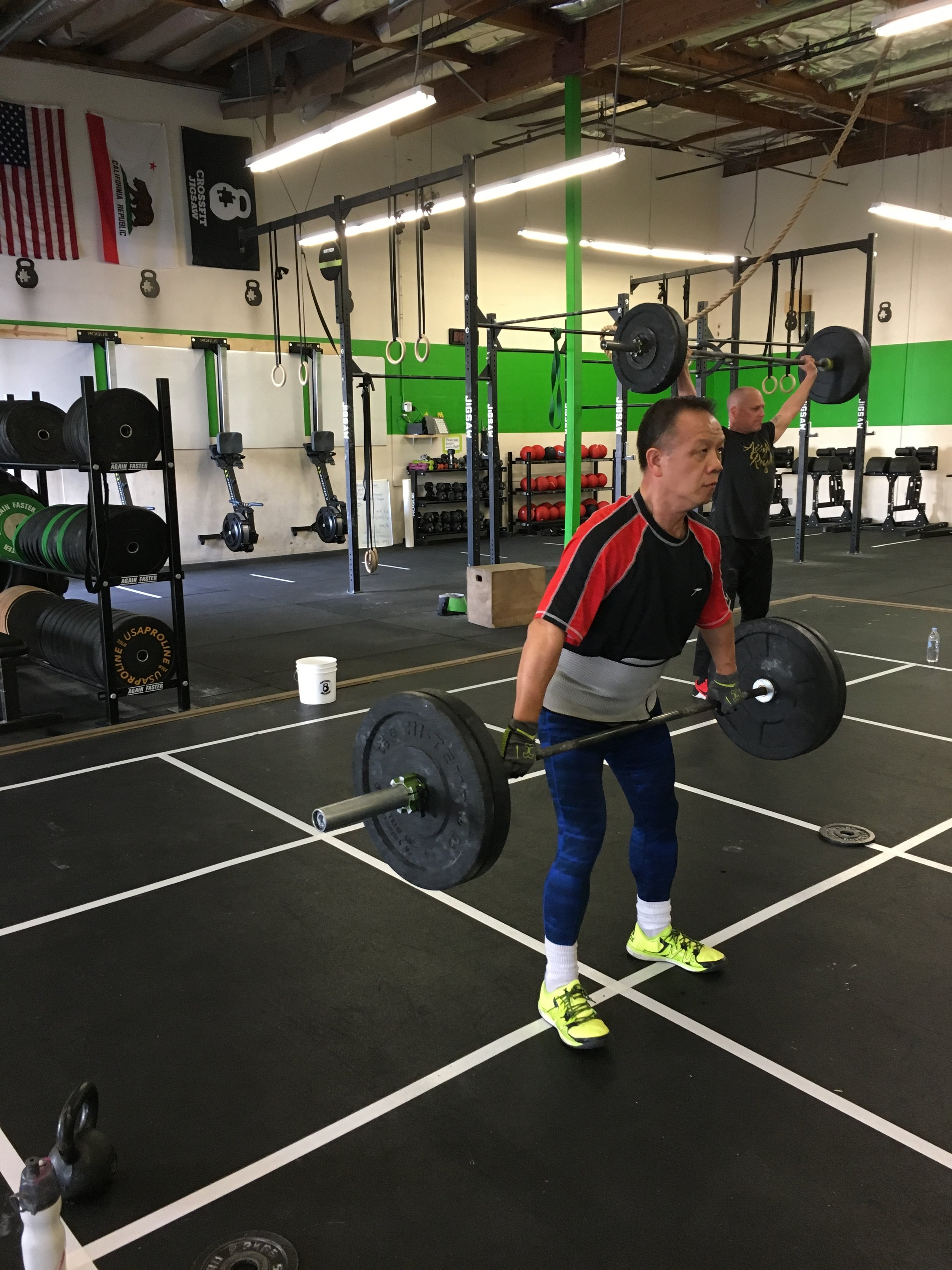 Danny working his technique on snatches this week