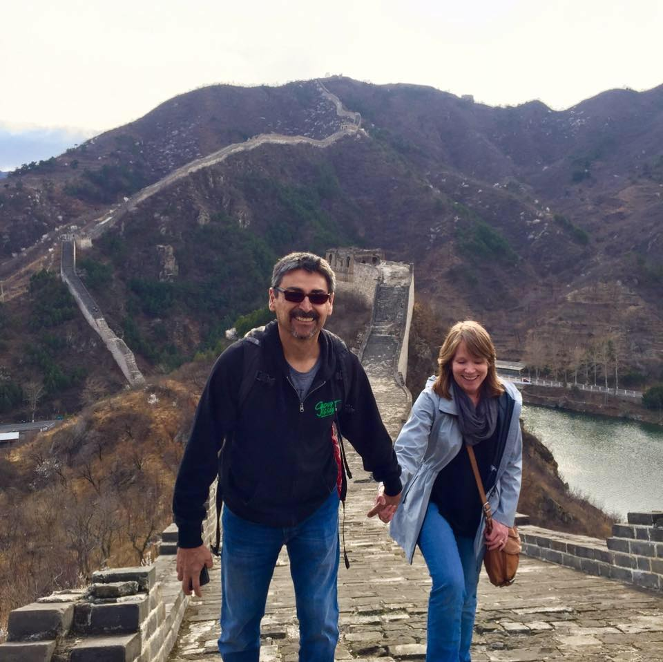 Joe and Judy showing off their Fitness at the Great Wall of China!